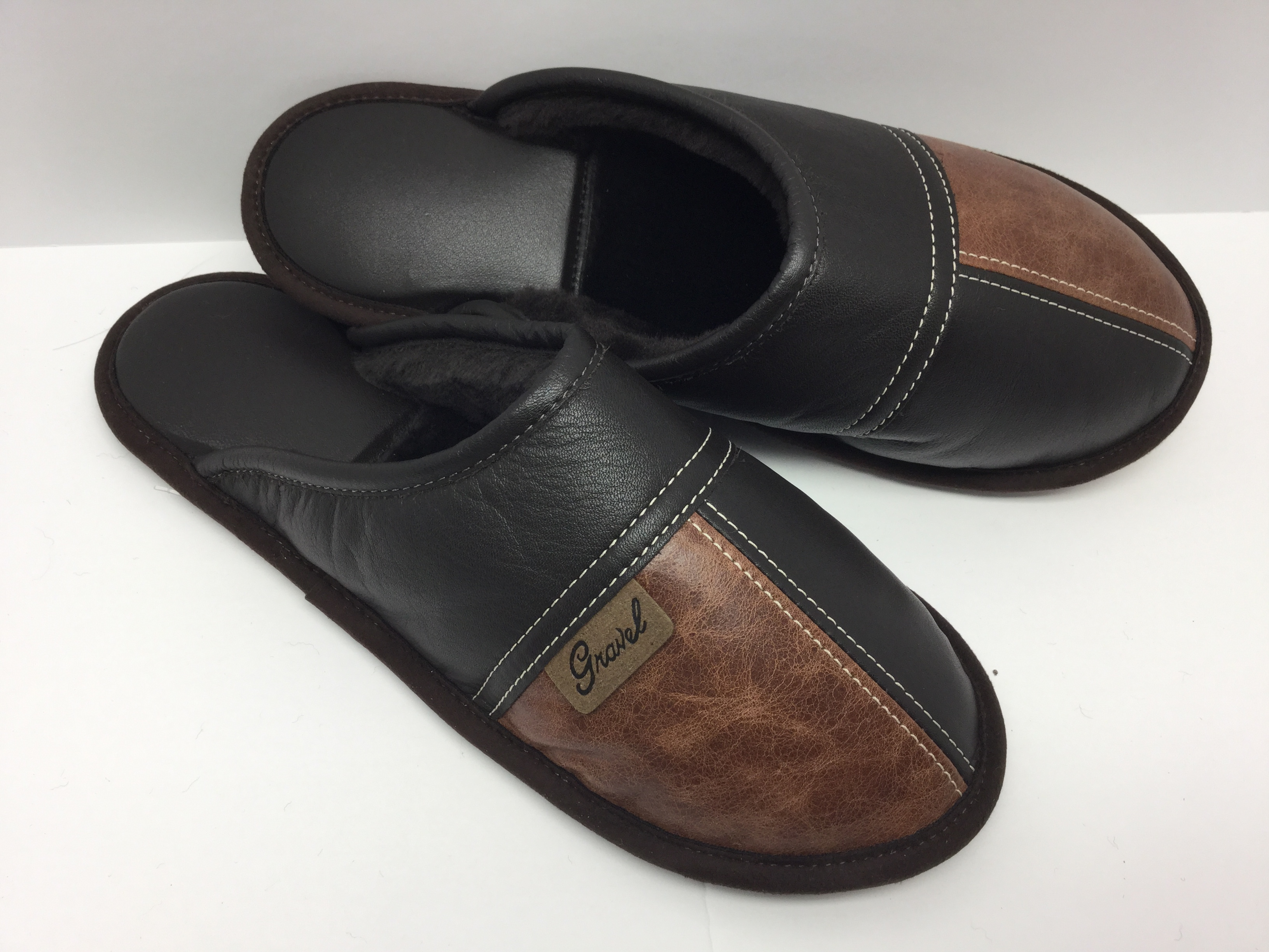 Mules all-leather Cognac/brown
