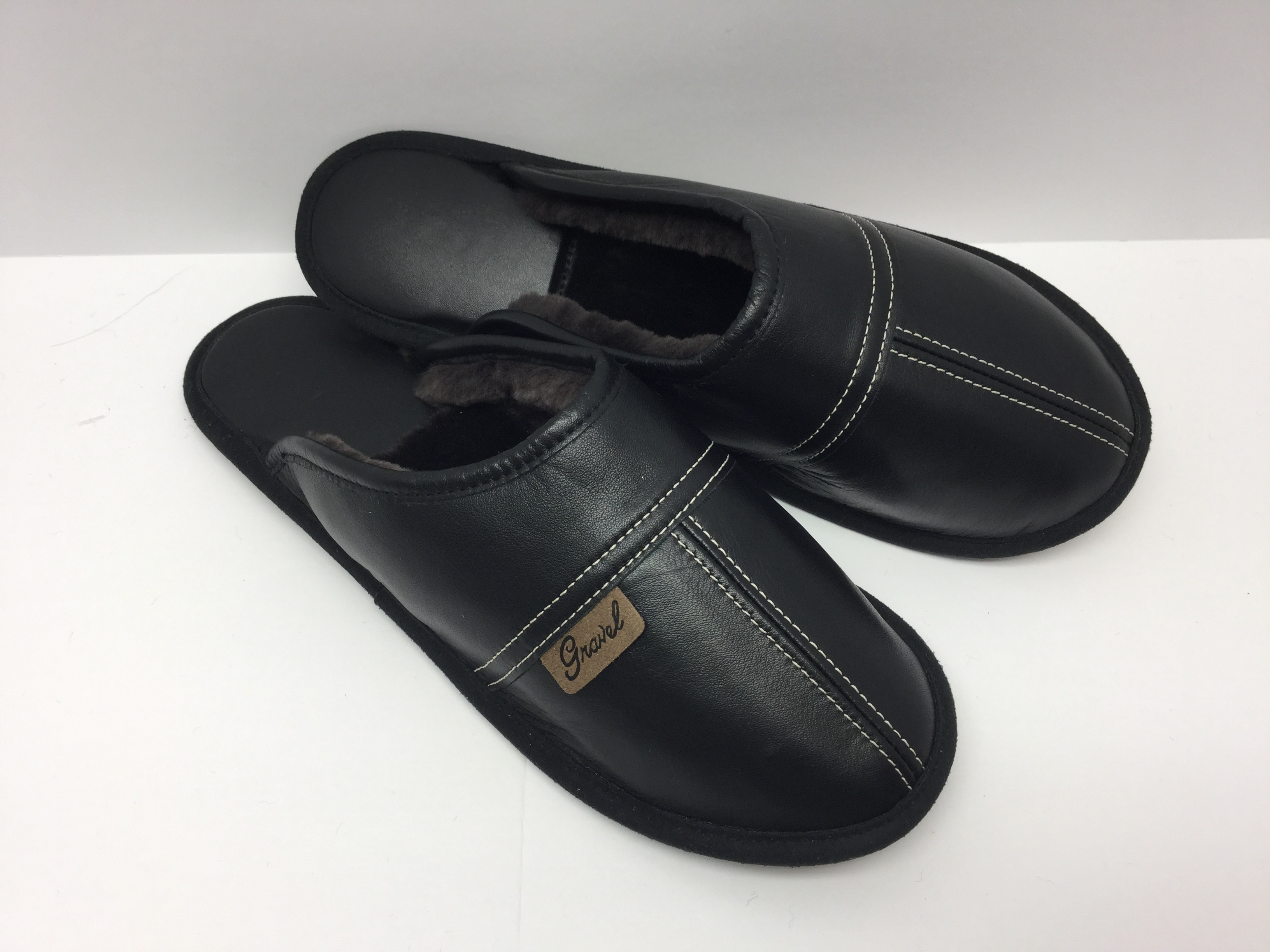 Mules all-leather Black