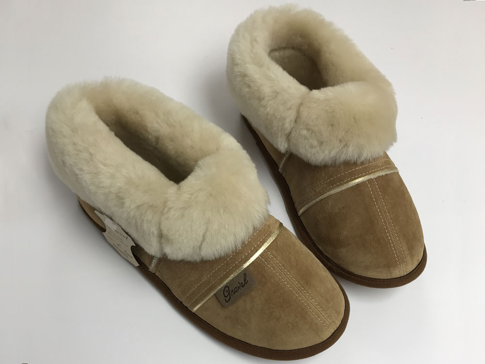 Slippers Suede Camel for women