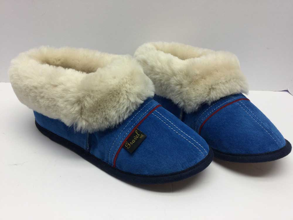Slippers Suede Blue