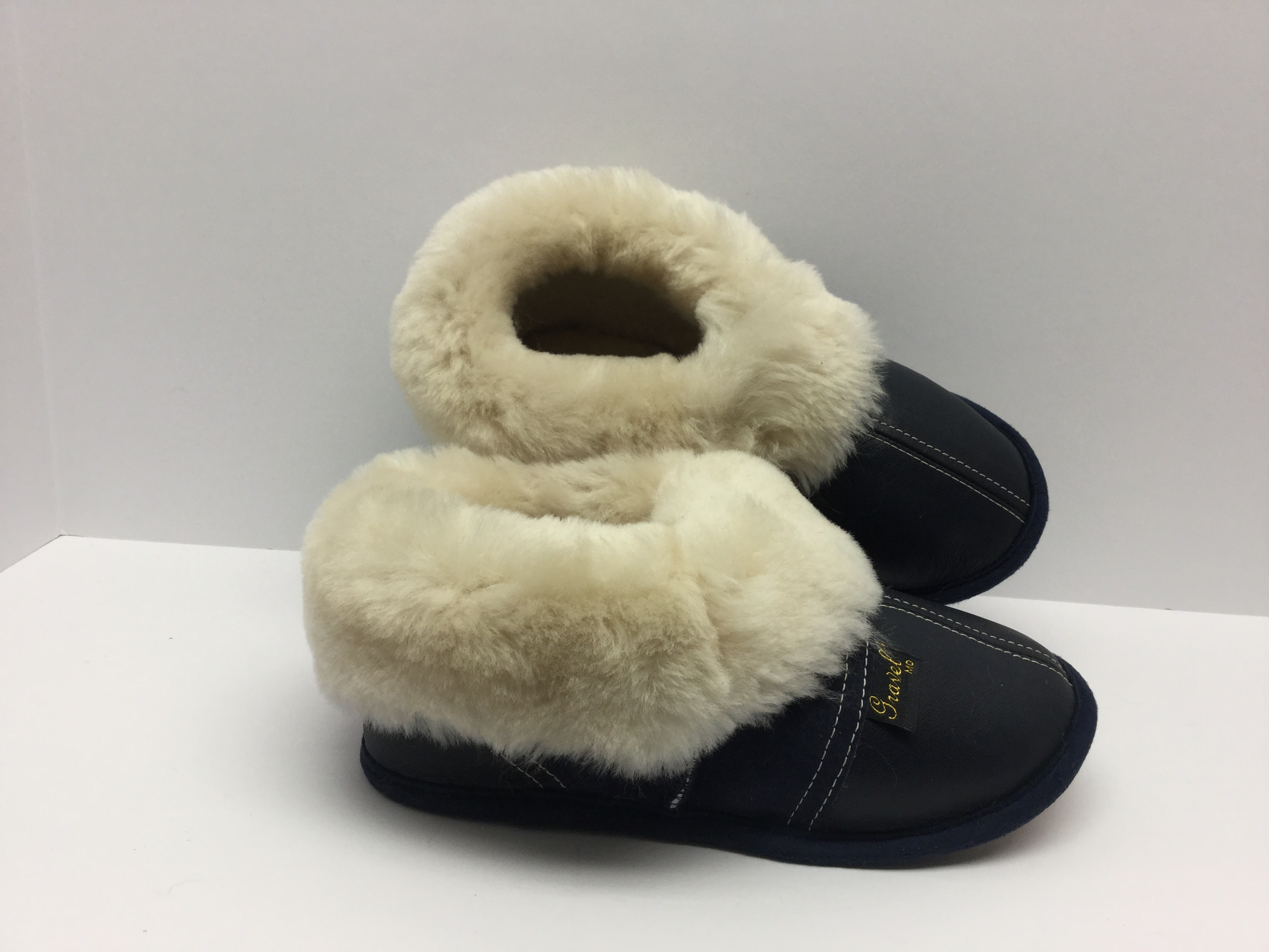 Slippers Leather/Suede Dark blue