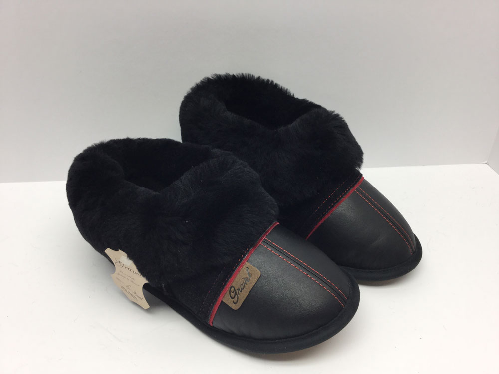 Slippers Leather/Suede Black