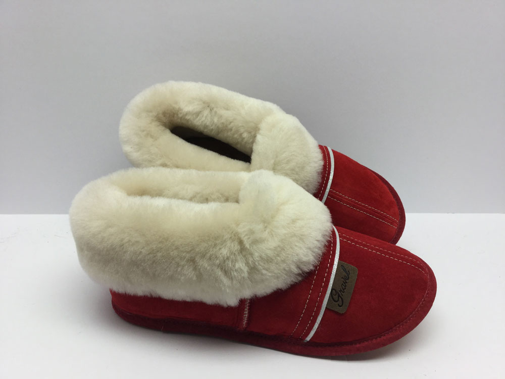 Slippers All-Suede Red